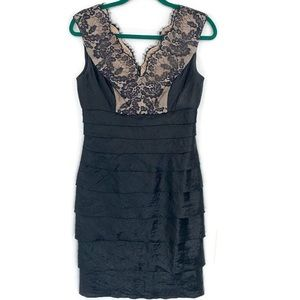 London Times Lace Tiered Sheath Dress Sz 6